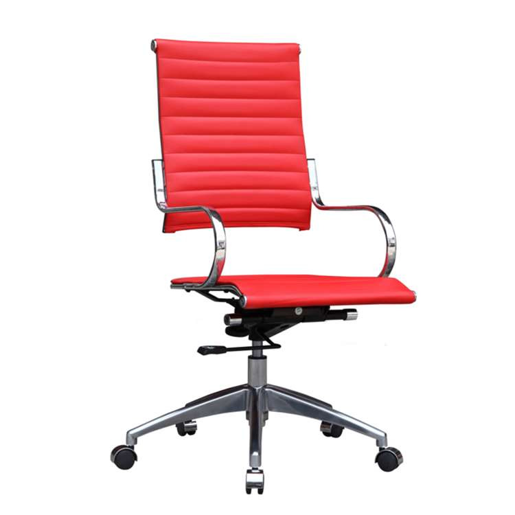 Fine Mod Flees Office Chair High Back, Red