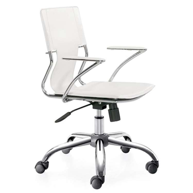 Fine Mod Elegant Office Chair, White