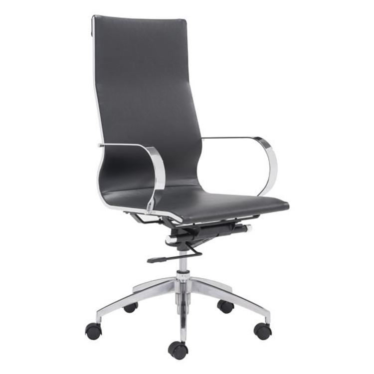 Zuo Modern Glider Hi Back Office Chair Black