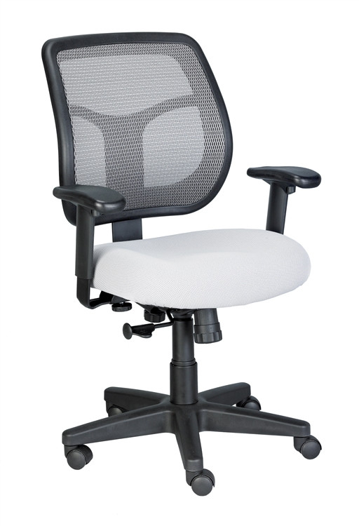 Eurotech Apollo Mid Back Task Chair in Silver
