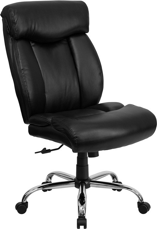 Flash Furniture HERCULES Series Big & Tall 400 lb. Rated Black Leather Executive Swivel Chair