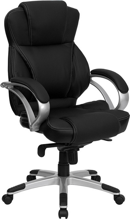 Flash Furniture High Back Black Leather Contemporary Executive Swivel Chair