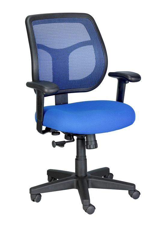 Eurotech Apollo Mid Back Task Chair in Blue