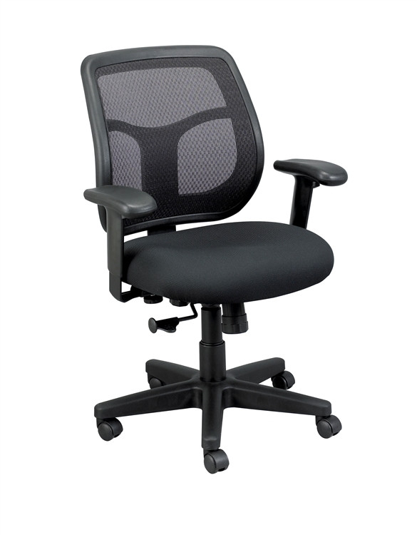 Eurotech Apollo Mid Back Task Chair in Black