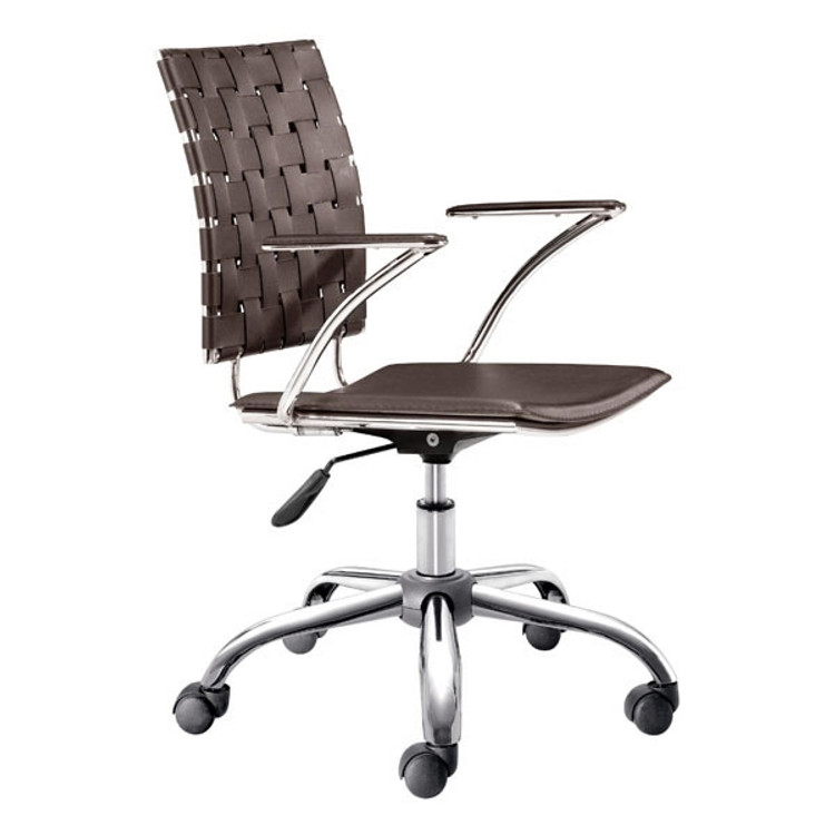 Zuo Modern Criss Cross Office Chair Espresso