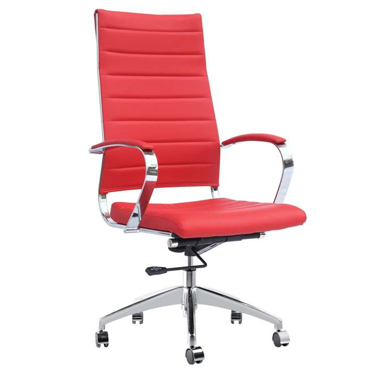 Fine Mod Sopada Conference Office Chair High Back, Red