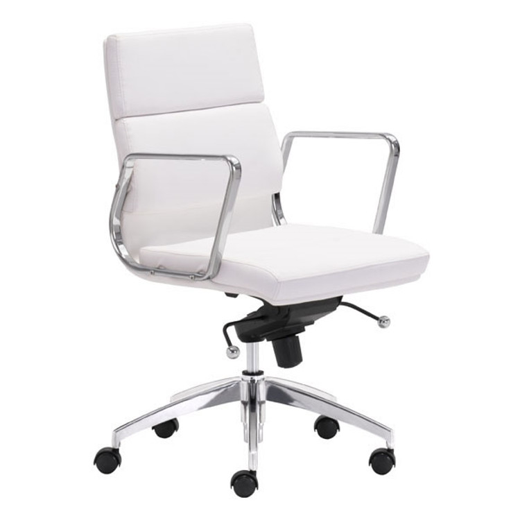 Zuo Modern Engineer Low Back Office Chair White