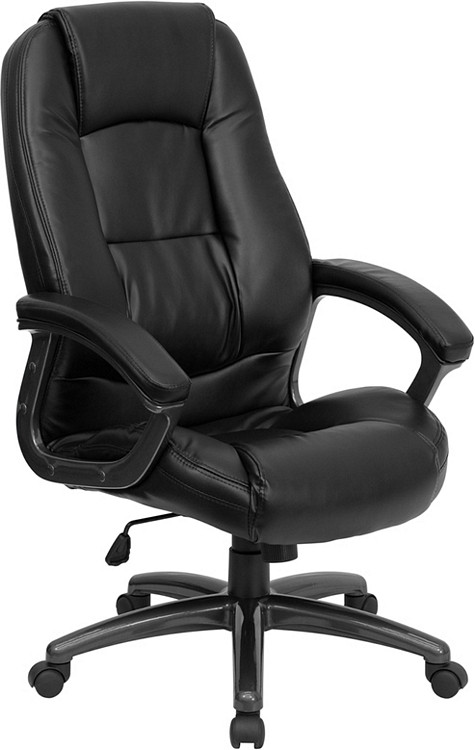 Flash Furniture High Back Black Leather Executive Swivel Chair with Arms 15