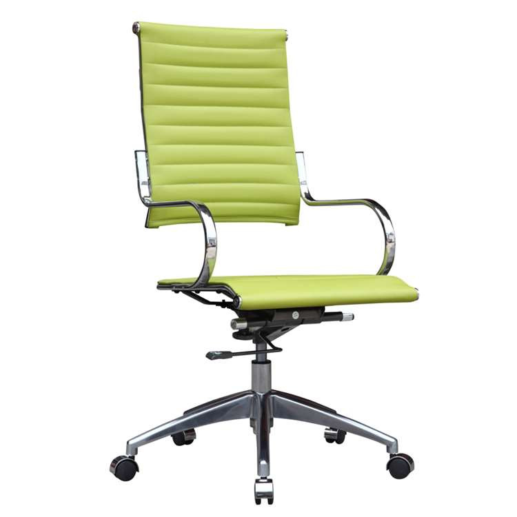 Fine Mod Flees Office Chair High Back, Green