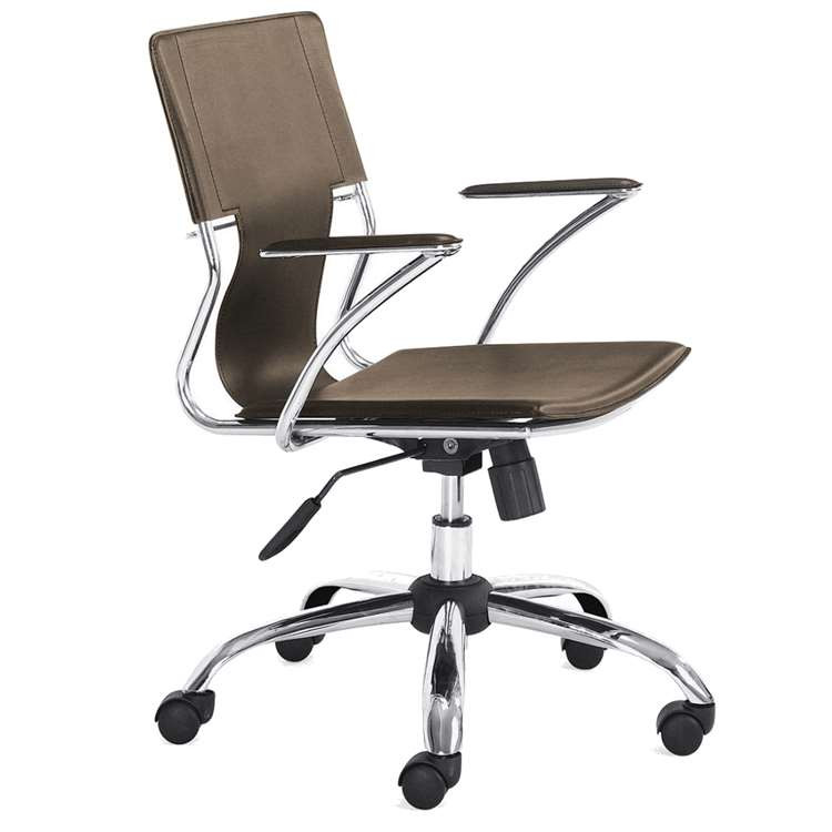 Fine Mod Elegant Office Chair, Brown