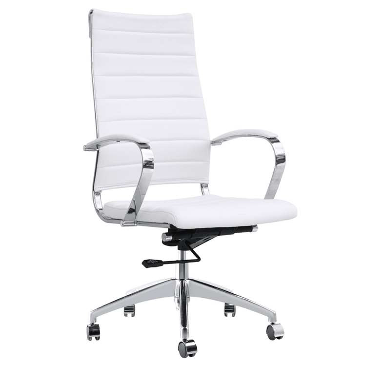 Fine Mod Sopada Conference Office Chair High Back, White