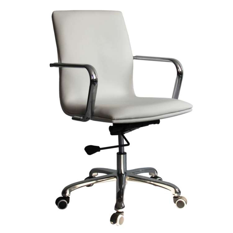 Fine Mod Confreto Conference Office Chair Mid Back, White