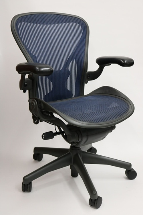 Herman Miller Aeron Chair Size B Fully Featured Cobalt Blue W/Posturefit