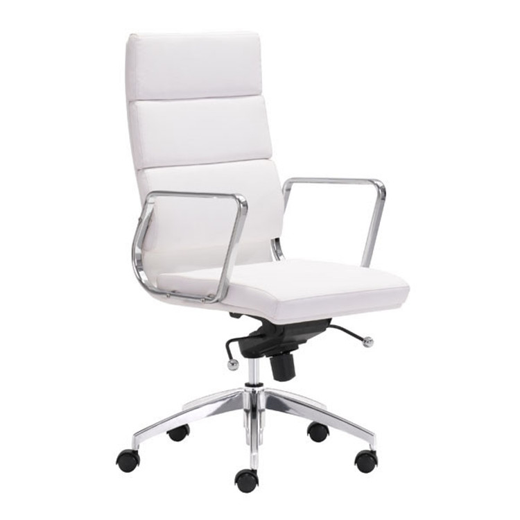Zuo Modern Engineer High Back Office Chair White
