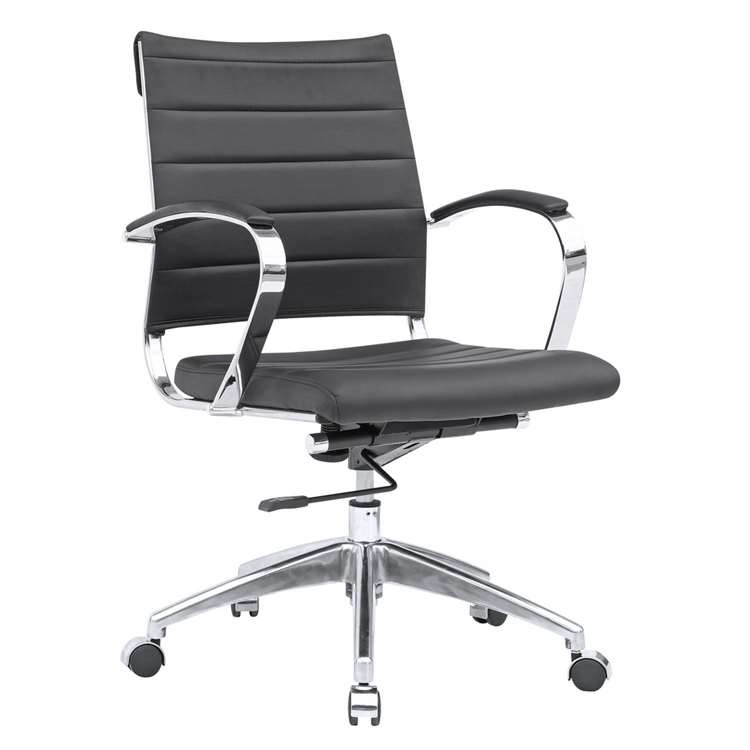 Fine Mod Sopada Conference Office Chair Mid Back, Black