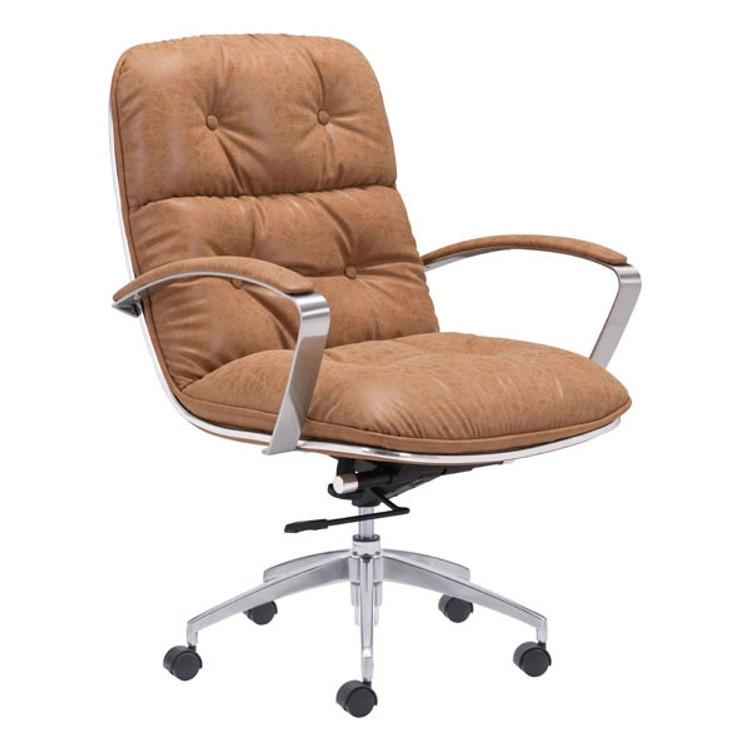 Zuo Modern Avenue Office Chair Vintage Coffee