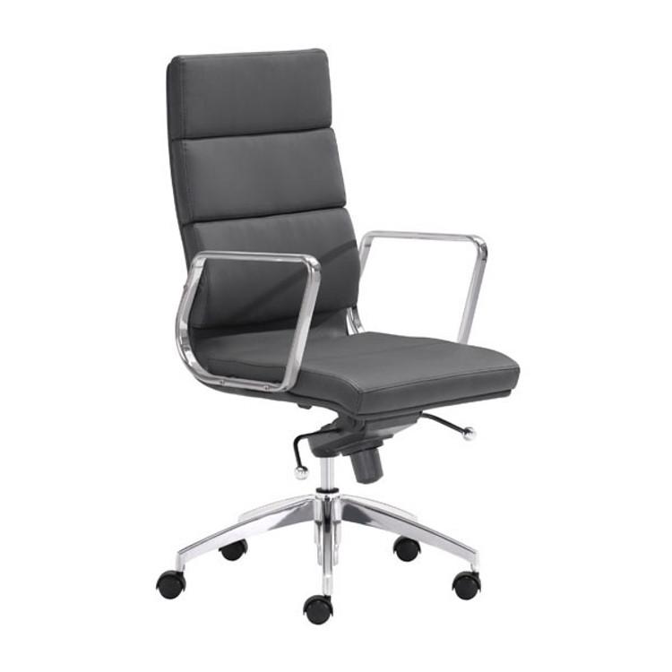 Zuo Modern Engineer High Back Office Chair Black