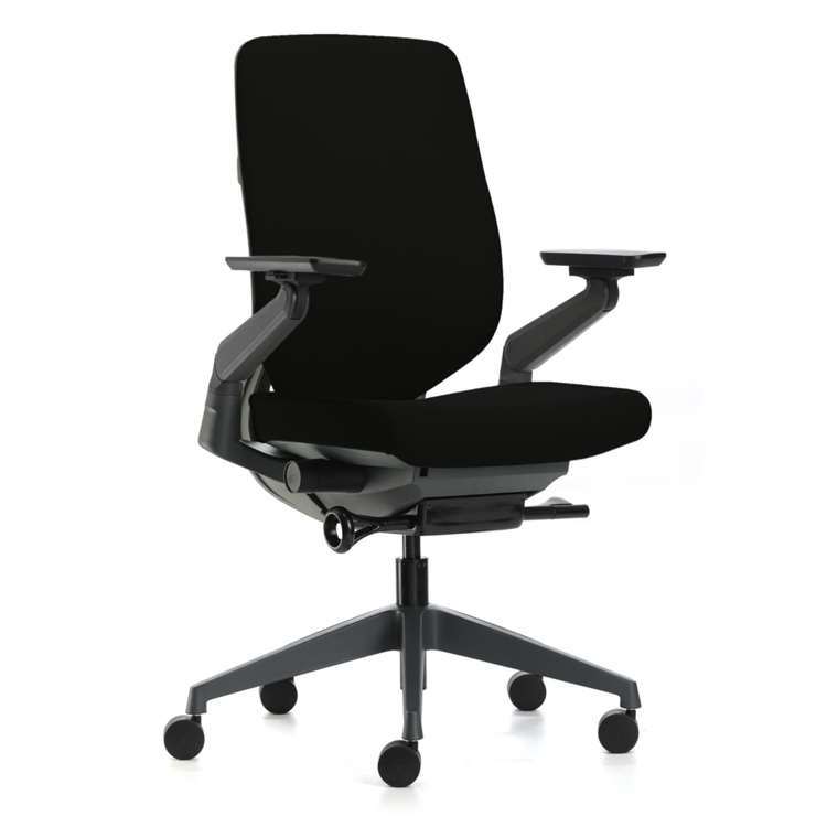 Fine Mod BackComfort Office Chair, Black