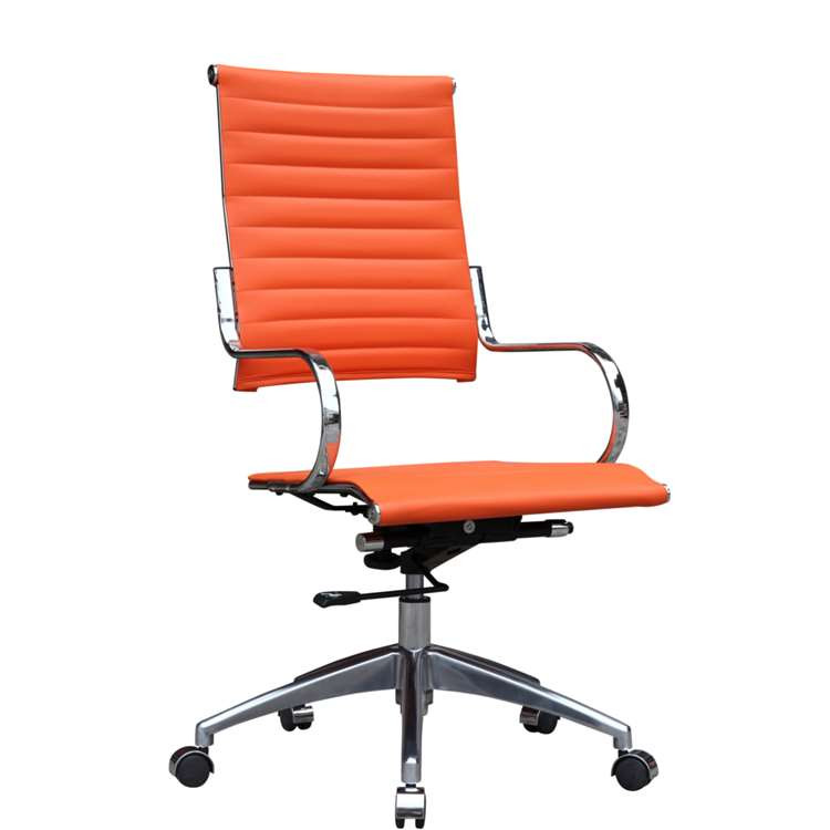 Fine Mod Flees Office Chair High Back, Orange