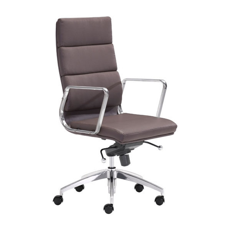 Zuo Modern Engineer High Back Office Chair Espresso