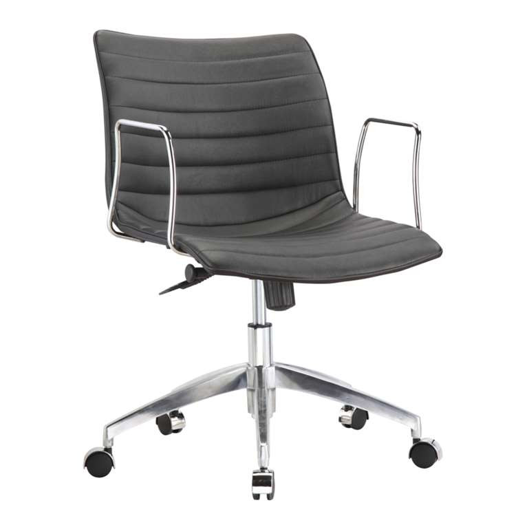 Fine Mod Comfy Office Chair Mid Back, Black