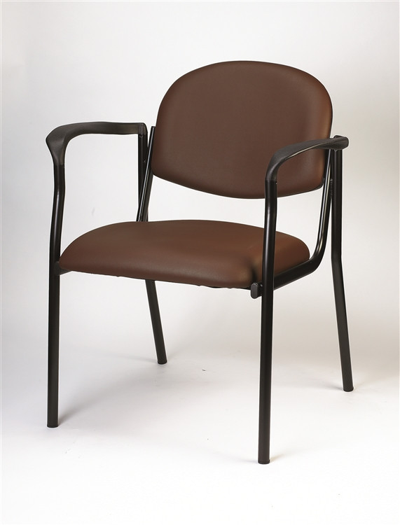 Eurotech Dakota Side Chair with Arms in Burgundy