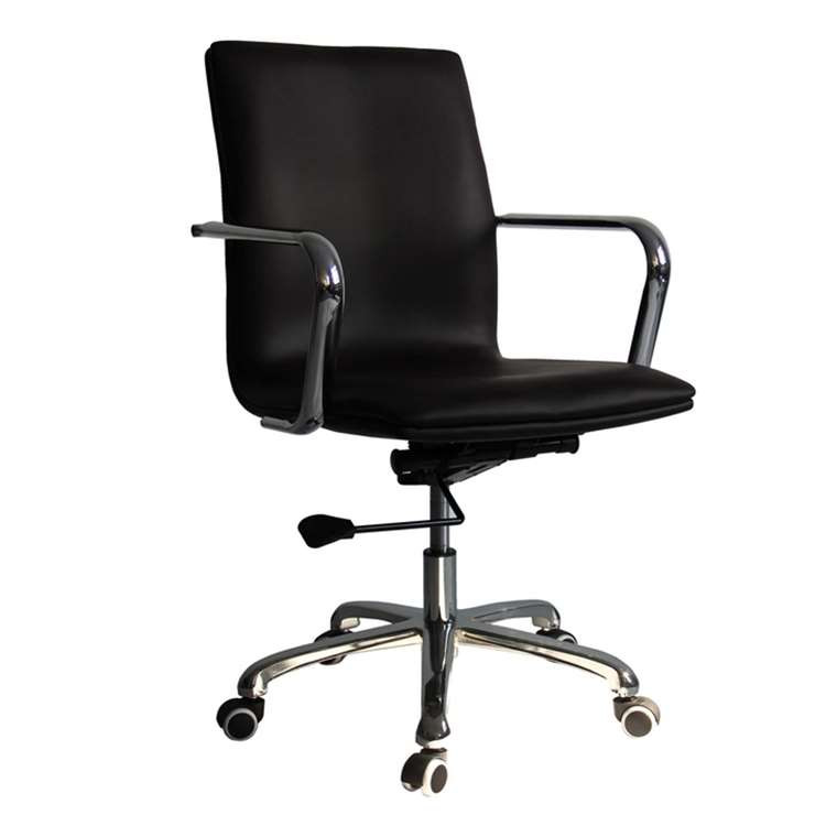 Fine Mod Confreto Conference Office Chair Mid Back, Dark Brown
