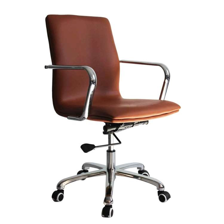 Fine Mod Confreto Conference Office Chair Mid Back, Light Brown