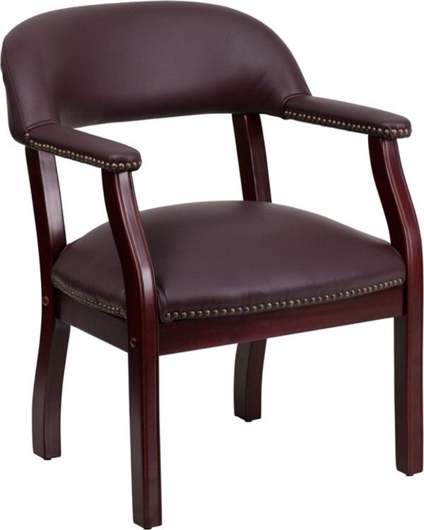 Flash Furniture Burgundy Top Grain Leather Conference Chair