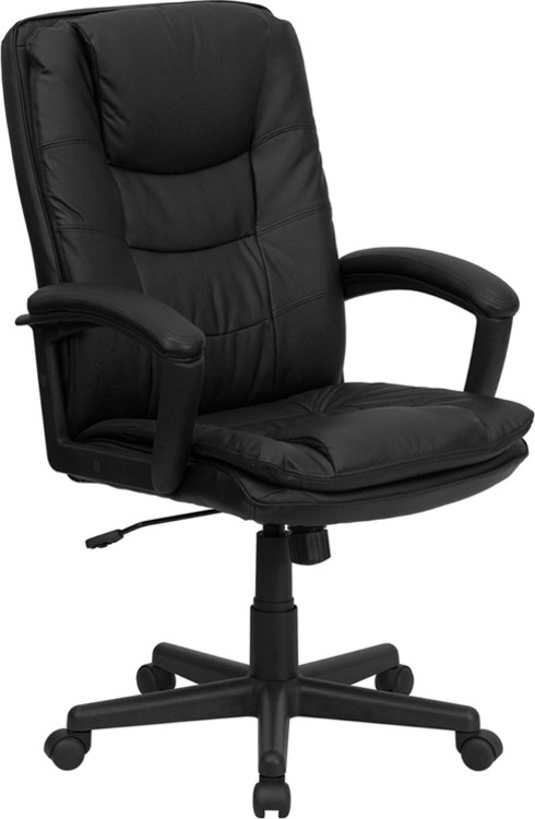 Flash Furniture High Back Black Leather Executive Swivel Chair with Arms 1