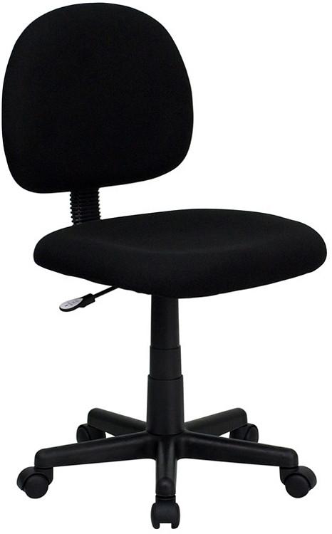 Flash Furniture Low Back Black Fabric Swivel Task Chair