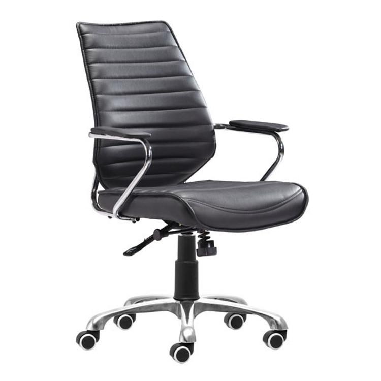 Zuo Modern Enterprise Low Back Office Chair Black