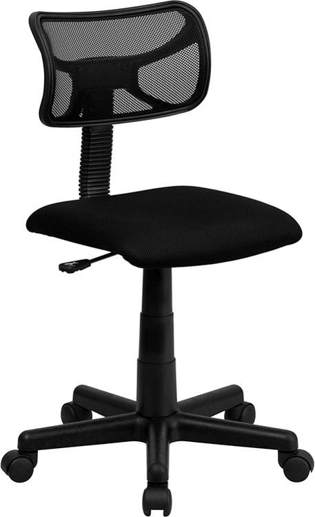 Flash Furniture Low Back Black Mesh Swivel Task Chair