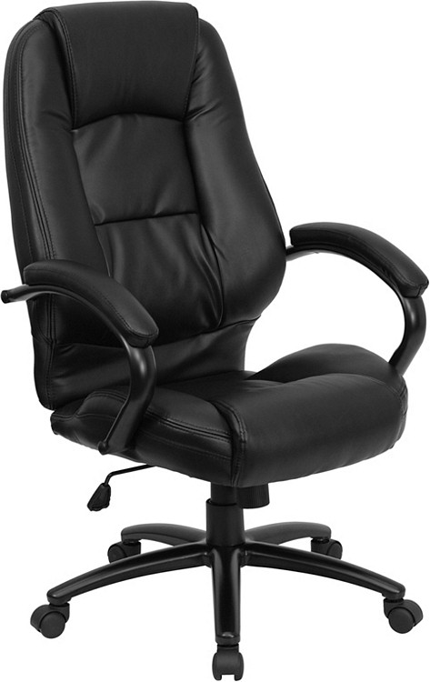 Flash Furniture High Back Black Leather Executive Swivel Chair with Arms 13