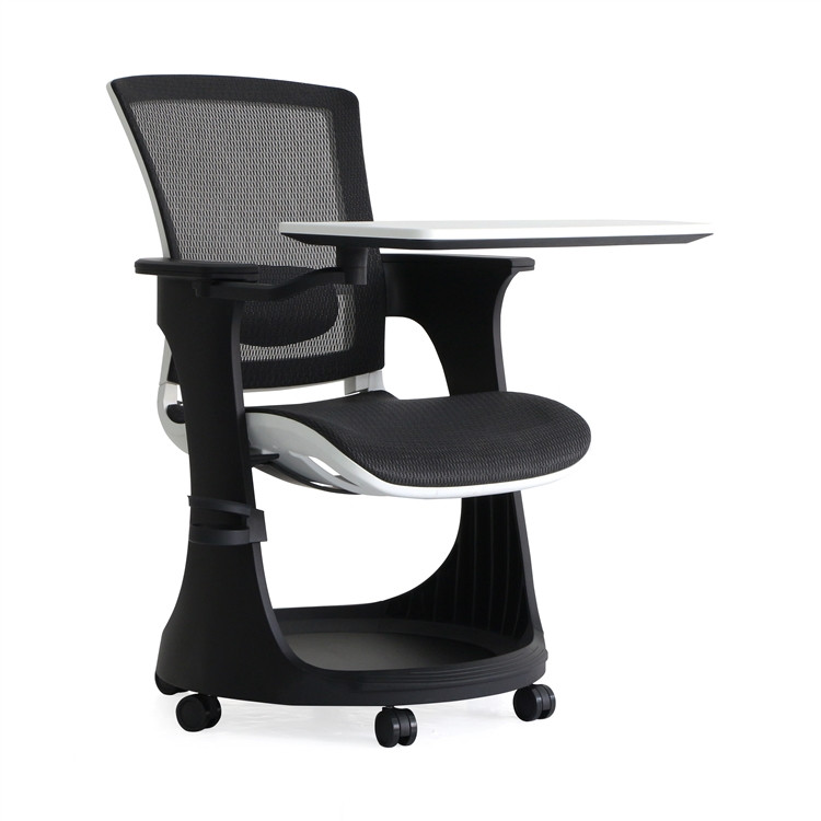 Eurotech Eduskate Task Chair in Black Mesh White Frame Node Chair Style