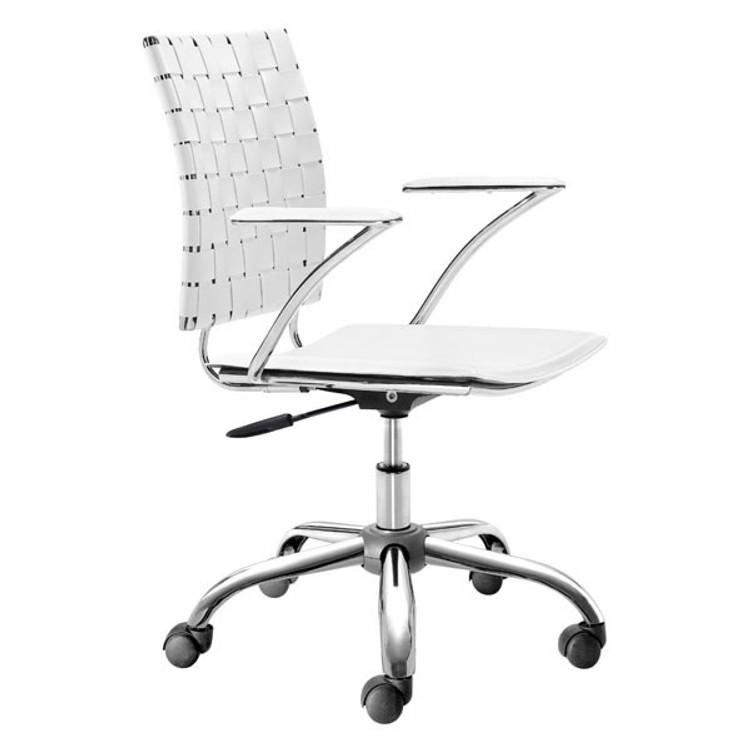 Zuo Modern Criss Cross Office Chair White
