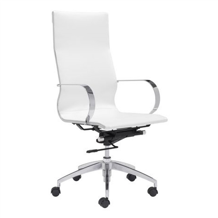 Fine Mod Conference Eames Style Office Chair High Back, White