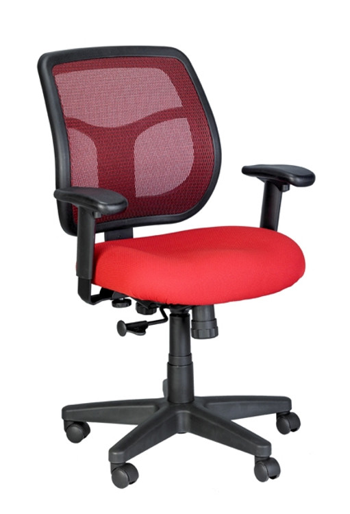 Eurotech Apollo Mid Back Task Chair in Red