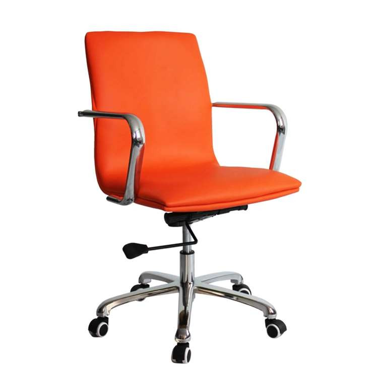 Fine Mod Confreto Conference Office Chair Mid Back, Orange