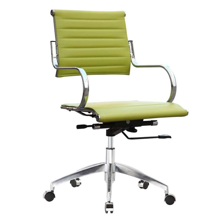 Fine Mod Flees Office Chair Mid Back, Green