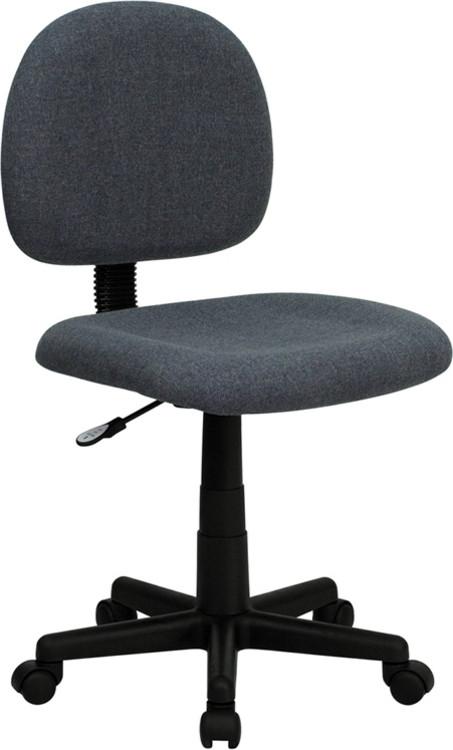 Flash Furniture Low Back Gray Fabric Swivel Task Chair
