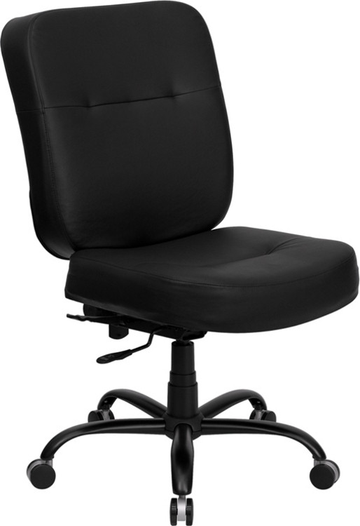 Flash Furniture HERCULES Series Big & Tall 400 lb. Rated Black Leather Executive Swivel Chair 1