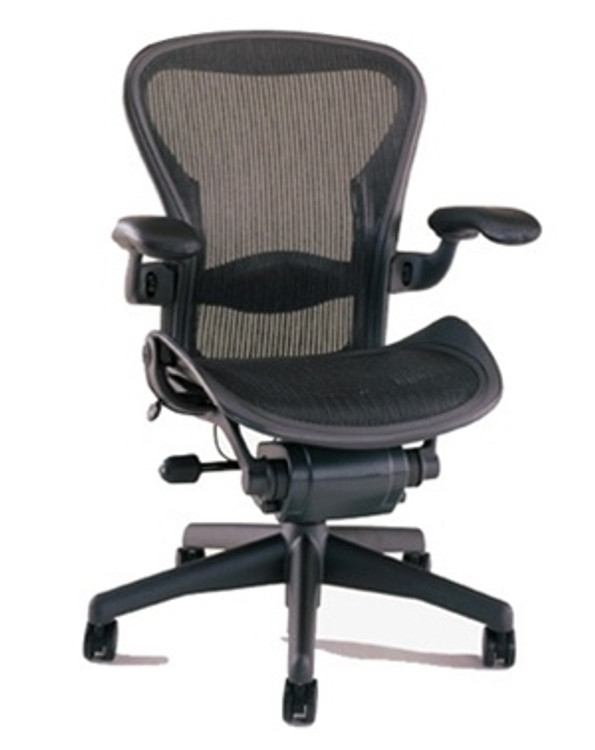Herman Miller Aeron Chair Size B (or C) Semi Loaded In Black