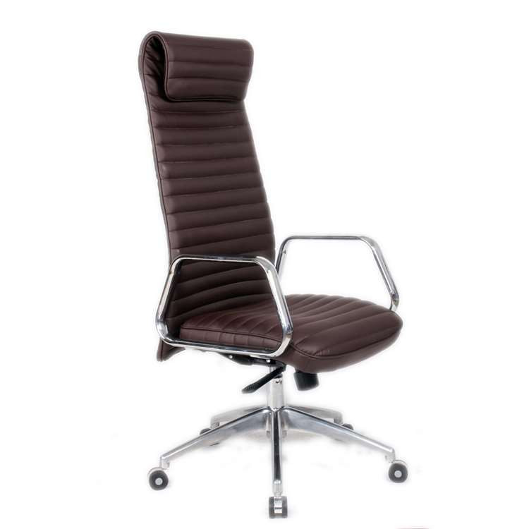 Fine Mod Ox Office Chair High Back, Dark Brown