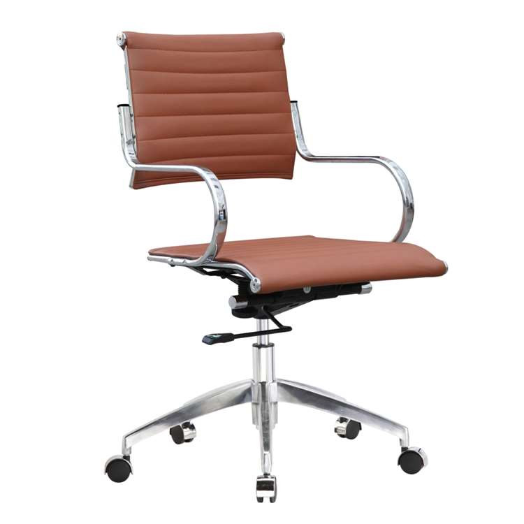 Fine Mod Flees Office Chair Mid Back, Light Brown