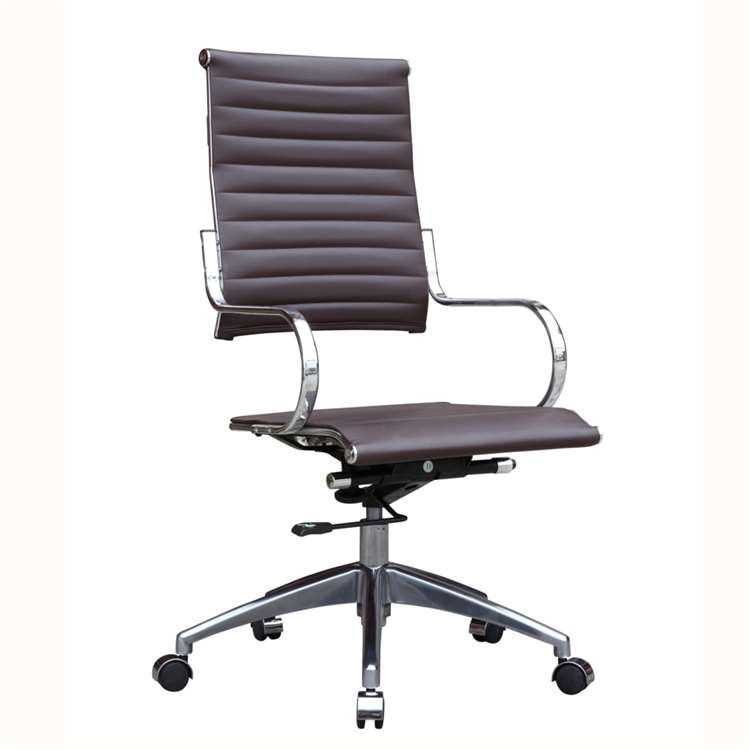 Fine Mod Flees Office Chair High Back, Dark Brown