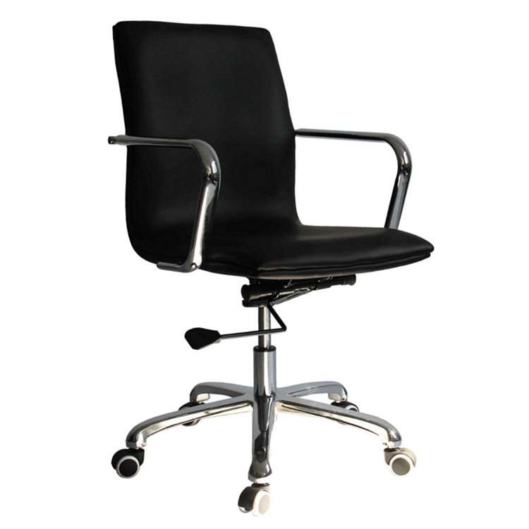 Fine Mod Confreto Conference Office Chair Mid Back, Black
