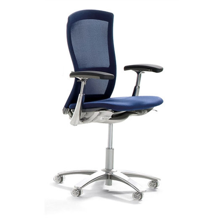 Knoll Life Chair Fully Adjustable Model Blue Mesh