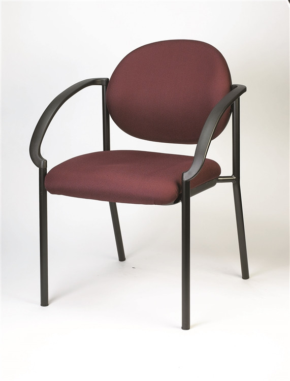 Eurotech Dakota Side Chair with Curved Arms in Burgundy