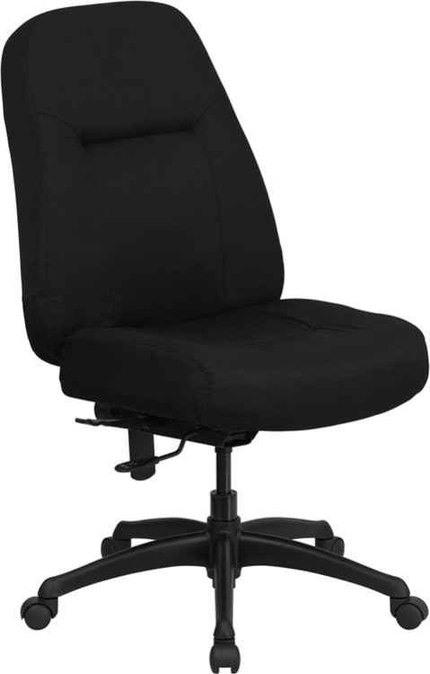 Flash Furniture HERCULES Series 400 lb. Rated High Back Big & Tall Black Fabric Executive Swivel Chair